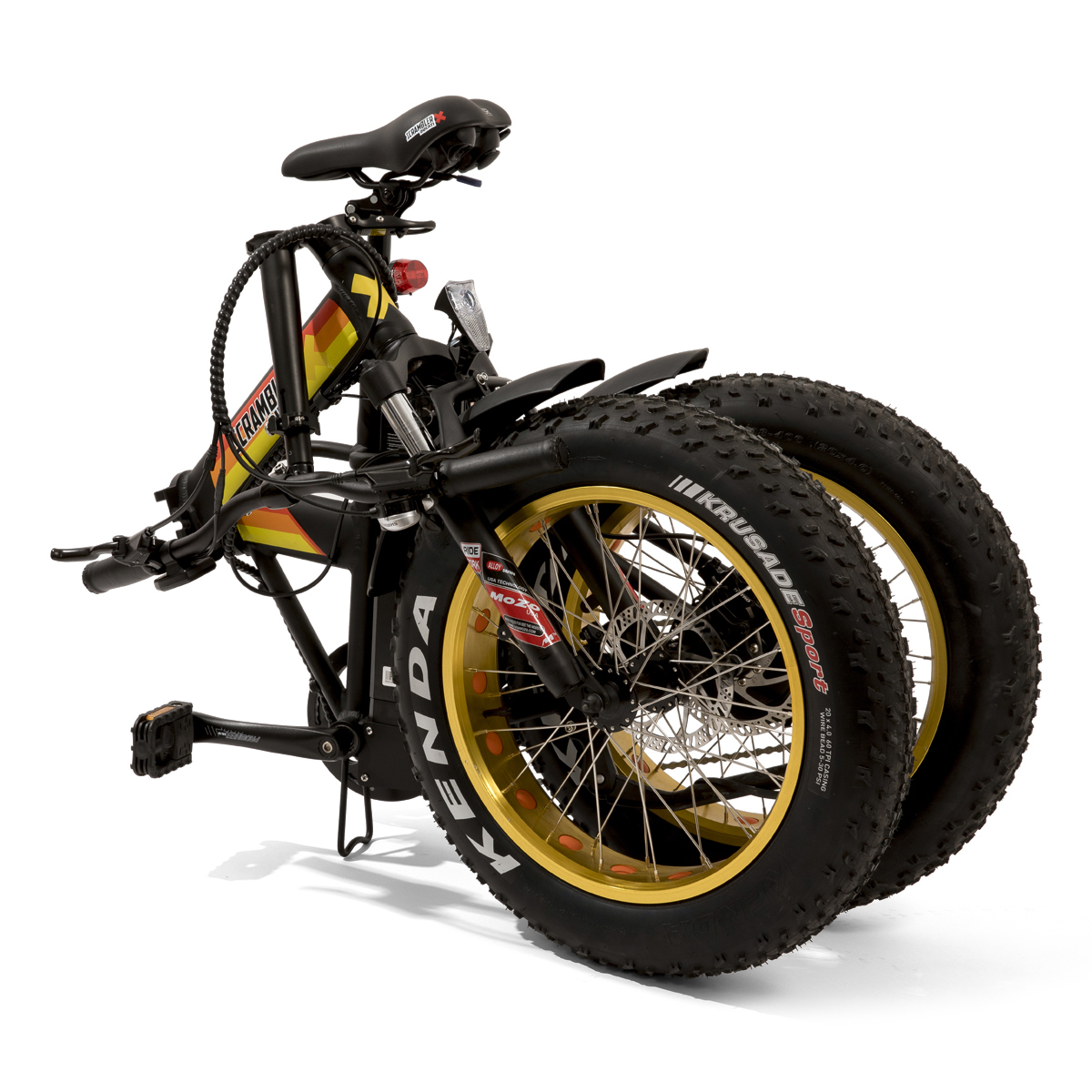 Scrambler Ducati Ebike Foldable In Black E Yellow Edition