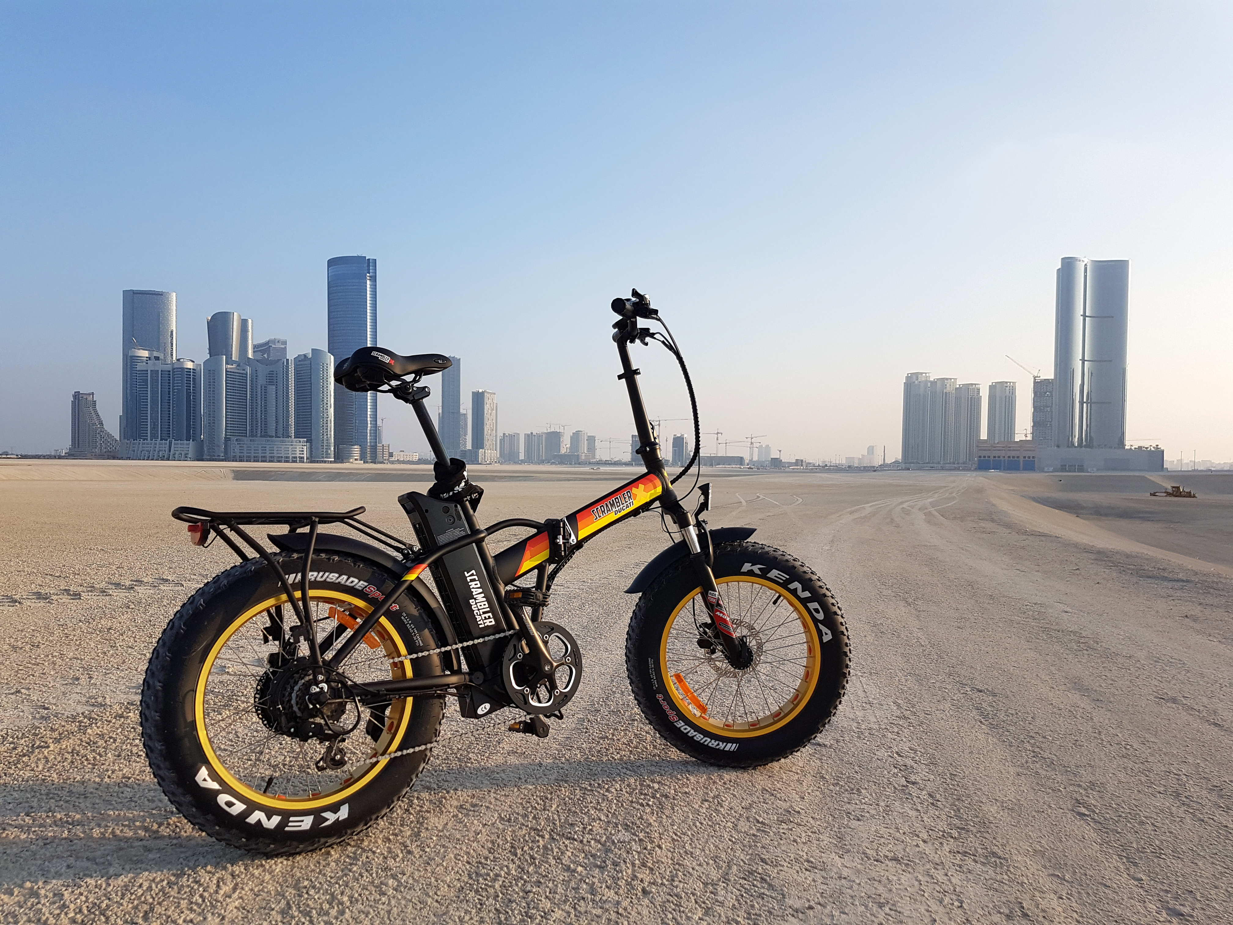 Scrambler Ducati Ebike Foldable In Black E Yellow Edition