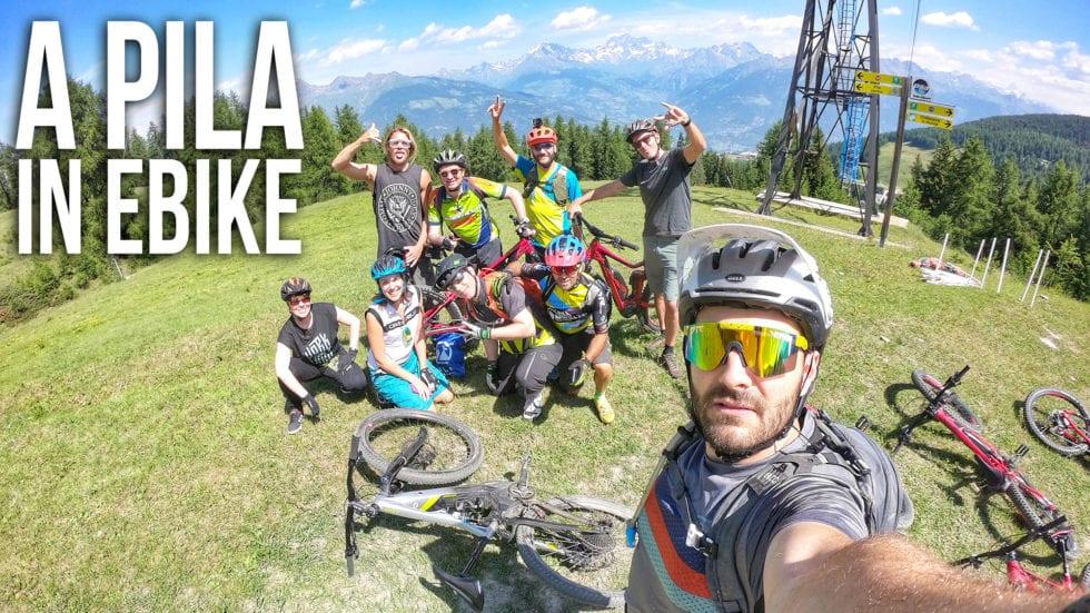VIDEO – A Pila in E-bike: il cicloturismo oltre al bike park