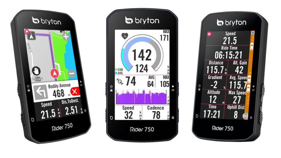 Nuovo Bryton Rider 750: super completo e compatibile con Shimano Steps