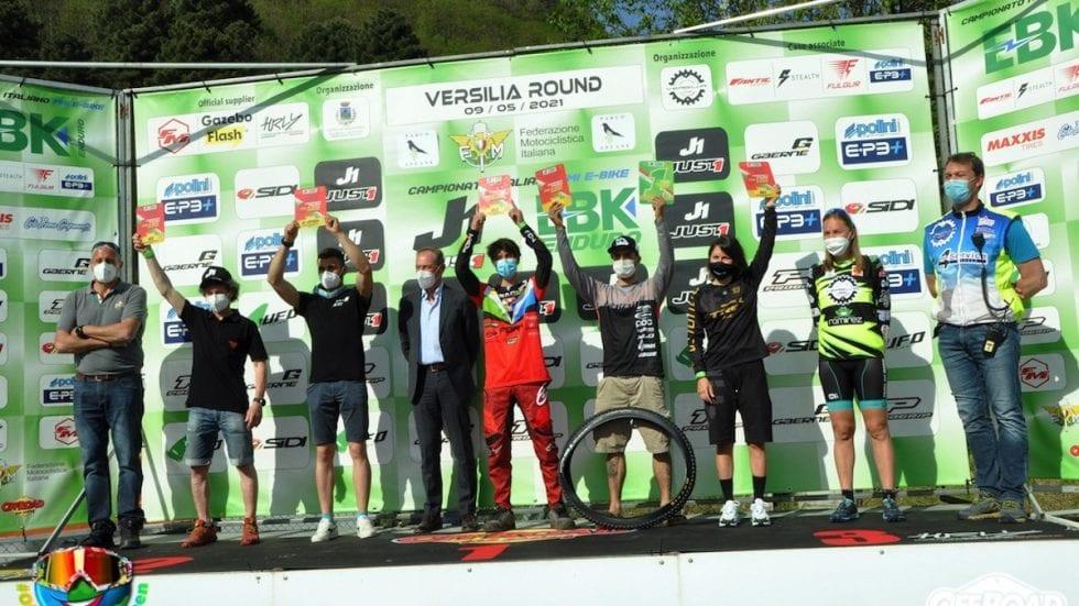 Campionato italiano e-bike enduro FMI: Andata la prima tappa in Versilia
